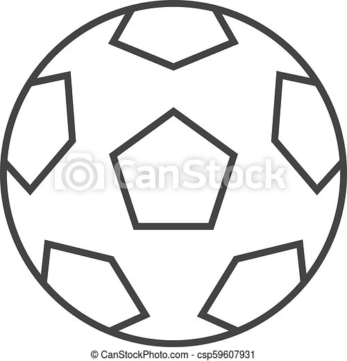 Outline Icon Football Football Icon In Thin Outline Style