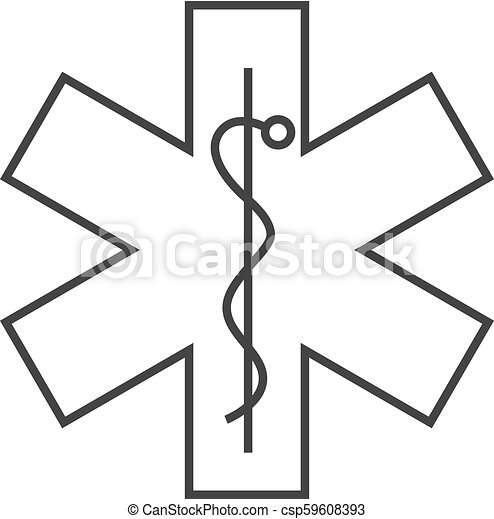 Outline icon - Medical symbol - csp59608393