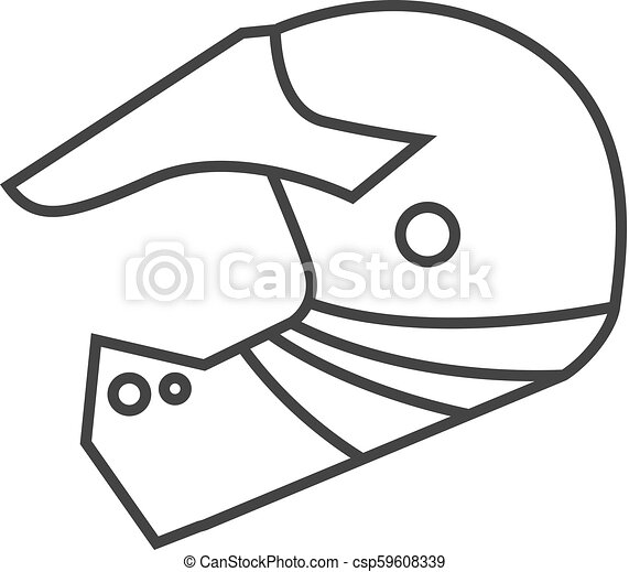 Outline Icon Motorcycle Helmet Motorcycle Helmet Icon In Thin