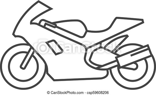 Outline Icon Motorcycle