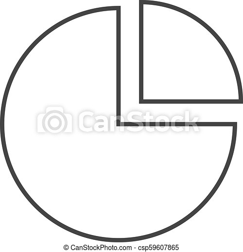 Outline Icon Pie Chart Pie Chart Icon In Thin Outline Style Data