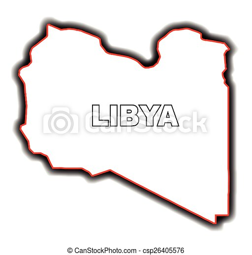 Outline Map Of Libya Outline Map Of The Arab League Country - Libya blank map