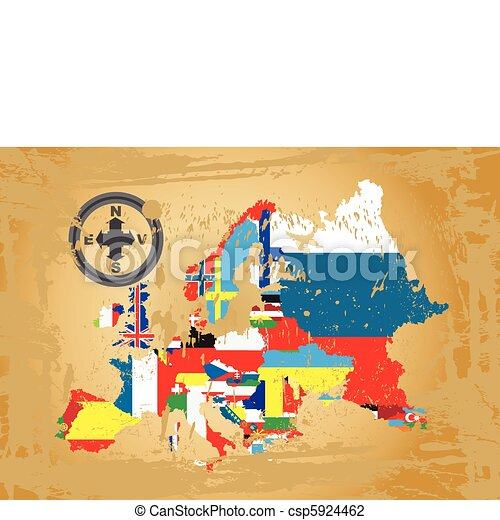 Outline maps of Europe - csp5924462