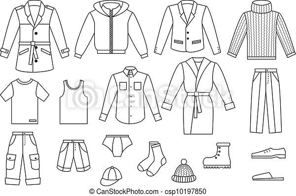 Mens clothes Vector Clipart EPS Images  1,346 Mens clothes clip art