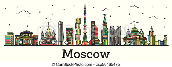 'world Landmarks Line' by shashank singh | City icon, St ... |Moscow City Coloring
