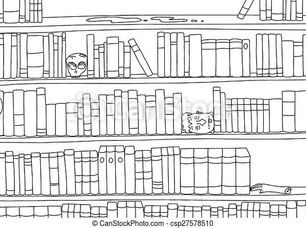 Outline Of Bizarre Bookshelf