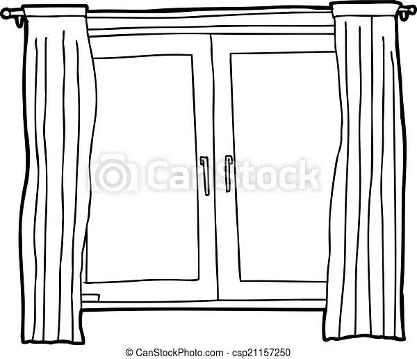 Outline of casement windows black outline cartoon of casement outline of casement windows csp21157250 thecheapjerseys Images