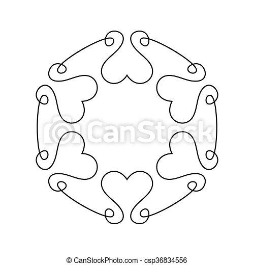 Outline romantic frame for wedding invitation simple vector outline romantic frame for wedding invitation csp36834556 stopboris Gallery
