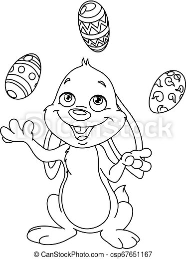 Cute Easter Bunny Coloring Pages - GetColoringPages.com | 470x335