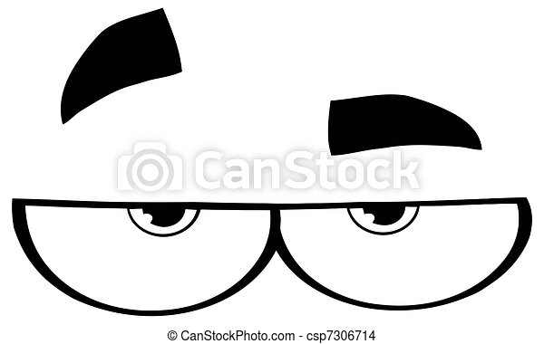 Outlined Cartoon Eyes - csp7306714
