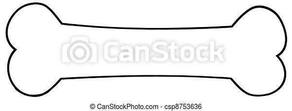 Outlined Dog Bone - csp8753636