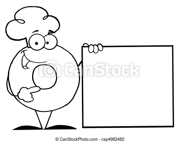 Outlined Donut Coloring Page Outline Of A Character Wearing