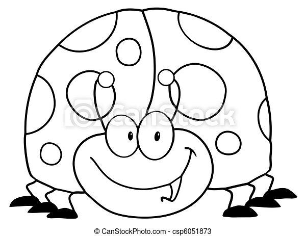 Outlined Ladybug - csp6051873