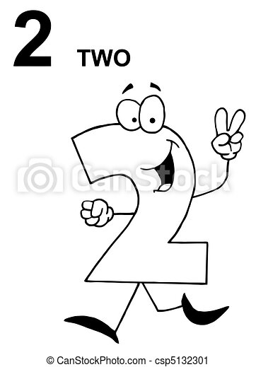 Two Number 2 Clip Art