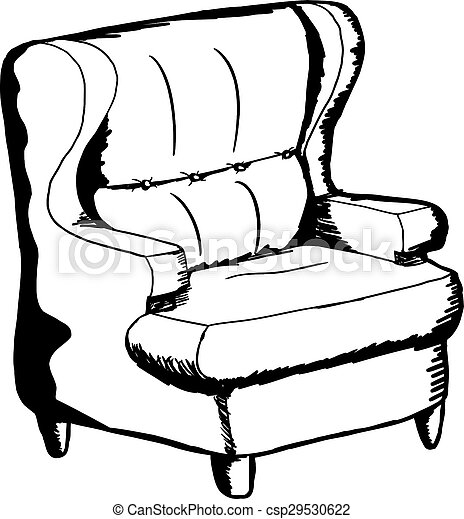 Outlined Sofa Chair
