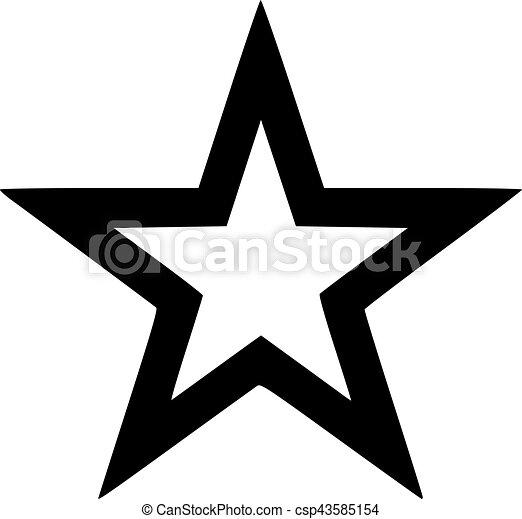 Outlined star black - csp43585154