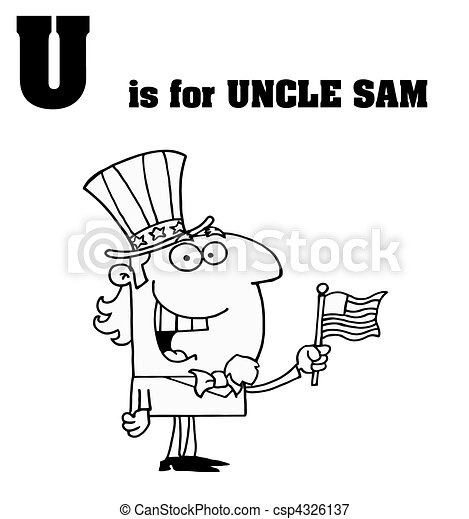 Outlined Uncle Sam - csp4326137