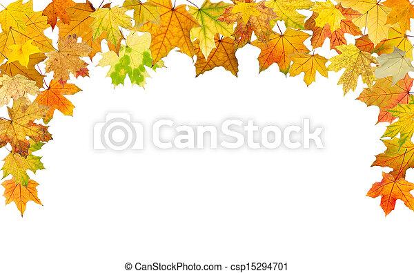 outono, borda - csp15294701