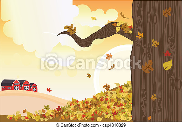 outono, estação - csp4310329