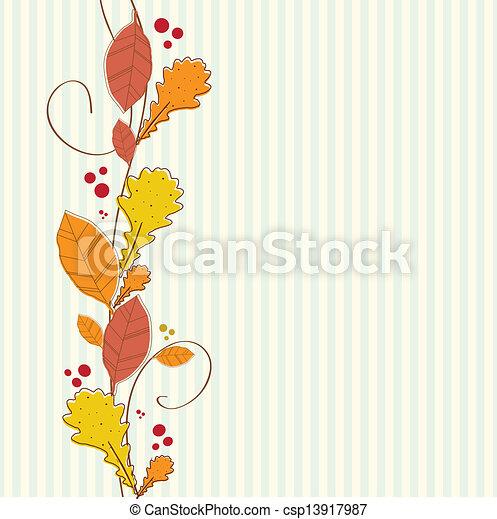 outono, experiência., borda, seamless, vertical - csp13917987