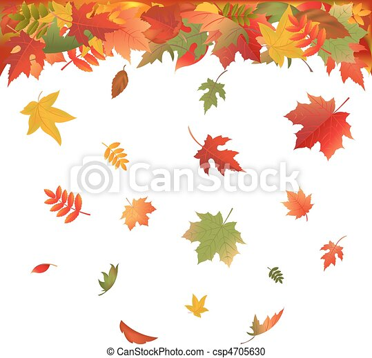 outono, luminoso, folhas - csp4705630