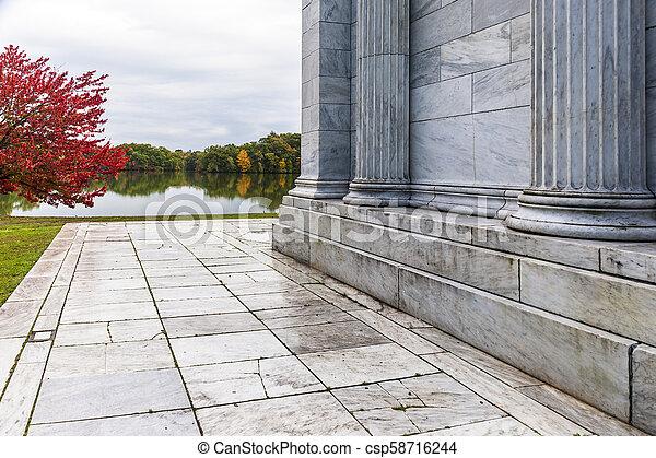 outono, música, windless, molhados, templo, tarde - csp58716244