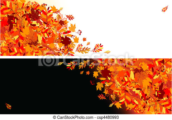 outono sai, desenho, bandeiras, seu - csp4480993