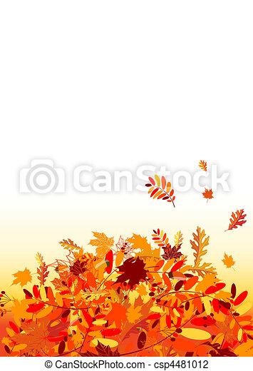 outono sai, desenho, seu, fundo - csp4481012