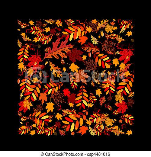 outono sai, desenho, seu, fundo - csp4481016