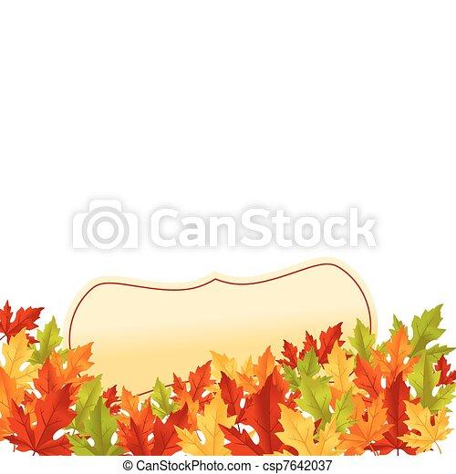 outono sai, fundo branco - csp7642037