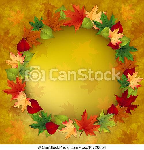outono sai, fundo, maple - csp10720854