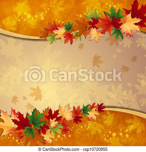 outono sai, fundo, maple - csp10720855