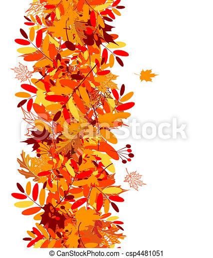 outono sai, seamless, fundo - csp4481051