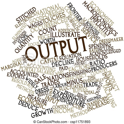 abstract word cloud for output with related tags and terms