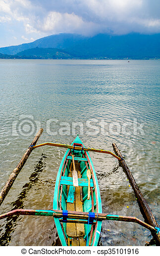 Outrigger canoe on the lake - csp35101916