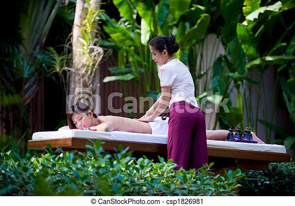 Outside Massage - csp1826981
