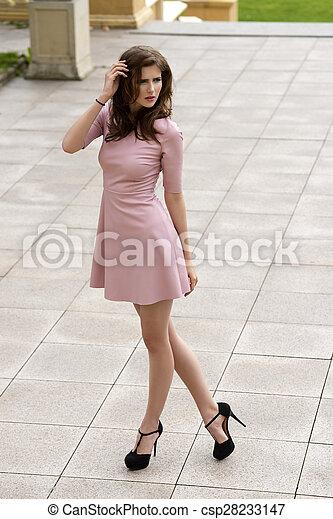 Outside portrait of elegant girl