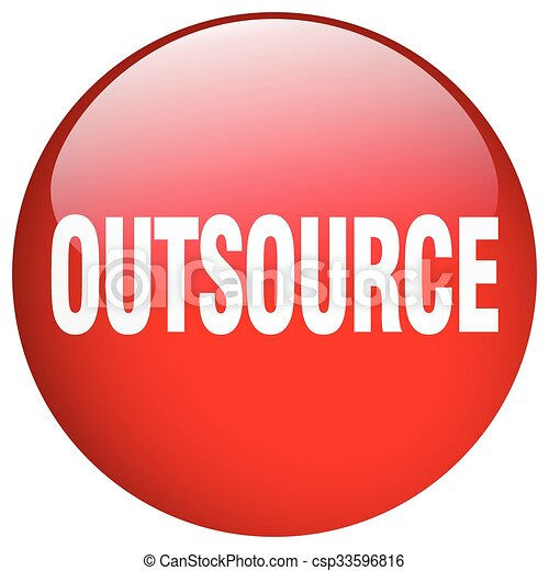 outsource red round gel isolated push button - csp33596816