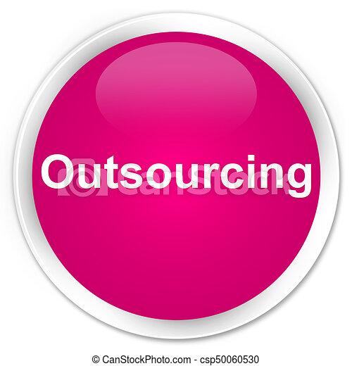 Outsourcing premium pink round button - csp50060530