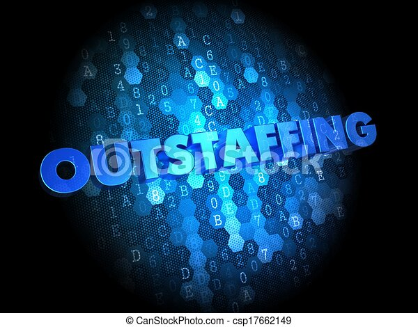 Outstaffing Concept on Digital Background. - csp17662149