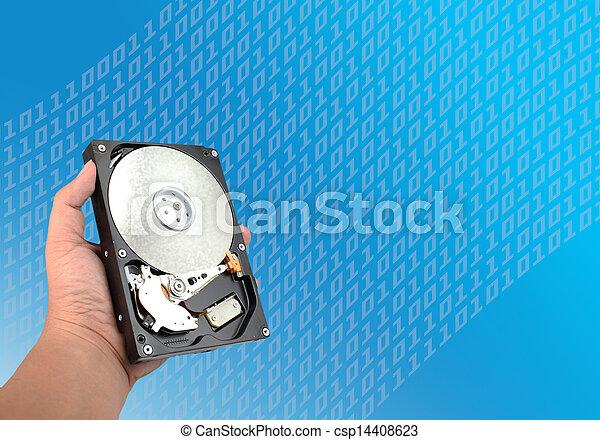 ouvert, harddisk - csp14408623