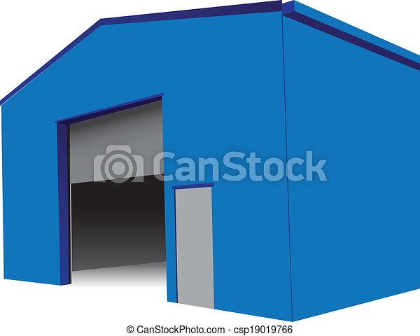 ouverture portail hangar industriel illustration gate clip art vectoriel rechercher. Black Bedroom Furniture Sets. Home Design Ideas