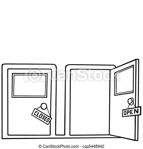ouverture porte, fin - csp5448942