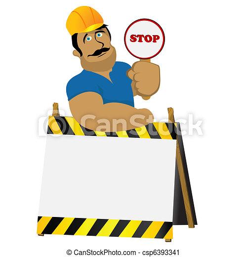 ouvrier construction - csp6393341