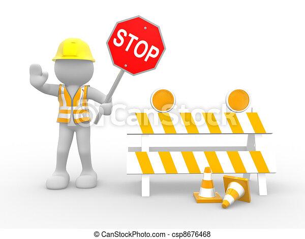 ouvrier, construction - csp8676468