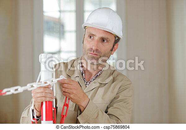 ouvrier construction, site, bâtiment - csp75869804