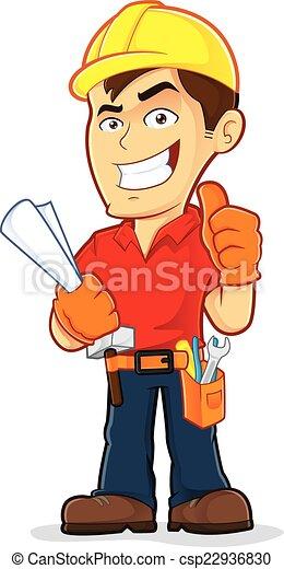 ouvrier construction - csp22936830
