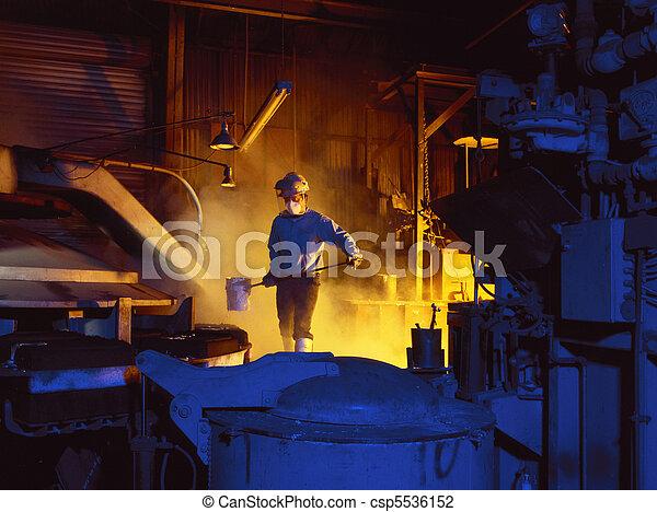 ouvrier, fonderie - csp5536152