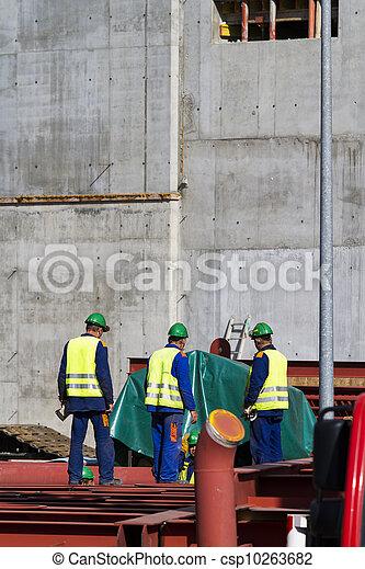 ouvriers, construction - csp10263682
