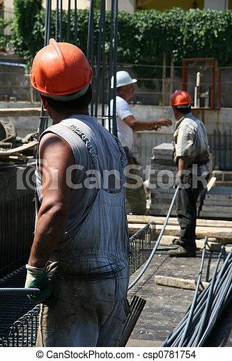 ouvriers, construction - csp0781754